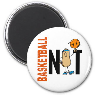 Basketball Nut 1 2 Inch Round Magnet