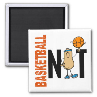Basketball Nut 1 2 Inch Square Magnet