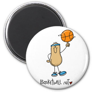 Basketball Nut 3 2 Inch Round Magnet