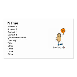 Basketball Nut T-shirts and Gifts Business Card Template