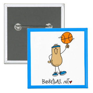 Basketball Nut T-shirts and Gifts Pinback Button