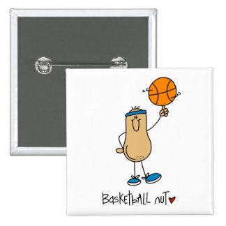 Basketball Nut T-shirts and Gifts 2 Inch Square Button