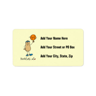 Basketball Nut T-shirts and Gifts Personalized Address Label
