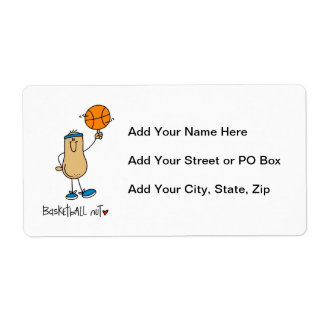 Basketball Nut T-shirts and Gifts Personalized Shipping Label