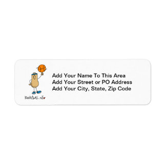 Basketball Nut T-shirts and Gifts Return Address Label