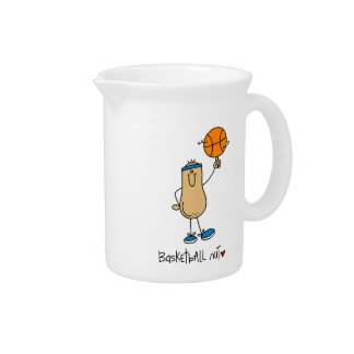 Basketball Nut T-shirts and Gifts Beverage Pitchers