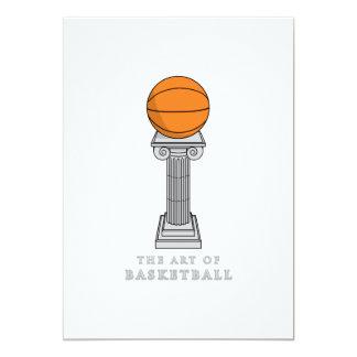 basketball on a pedestal art card