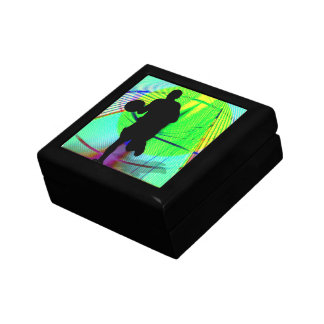 Basketball on a Psychedelic Court Gift Box