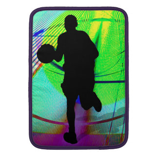 Basketball on a Psychedelic Court MacBook Sleeve