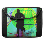 Basketball on a Psychedelic Court MacBook Pro Sleeves
