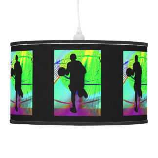Basketball on a Psychedelic Court. Pendant Lamp