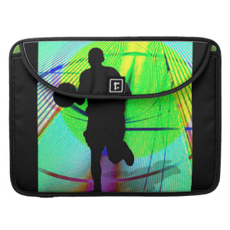 Basketball on a Psychedelic Court Sleeve For MacBook Pro