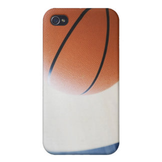 Basketball on court iPhone 4 cases