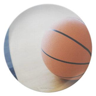 Basketball on court melamine plate