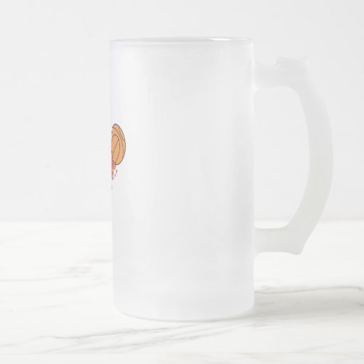 basketball on fire 16 oz frosted glass beer mug