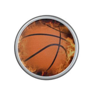 Basketball on fire. bluetooth speaker
