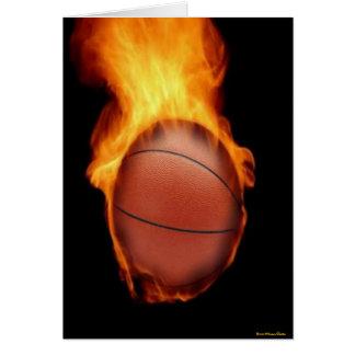 Basketball On Fire Card