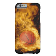 Basketball on fire ( composite) iPhone 6 case