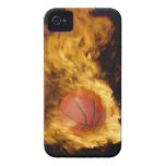 Basketball on fire (digital composite) Case-Mate iPhone 4 cases