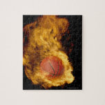 """Basketball on fire (digital composite) jigsaw puzzle<br><div class=""""desc"""">AssetID: 73170910 / {Don Farrall} / Basketball on fire (digital composite)</div>"""