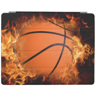 Basketball on fire iPad cover
