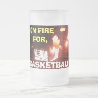 BASKETBALL, ON FIRE mug