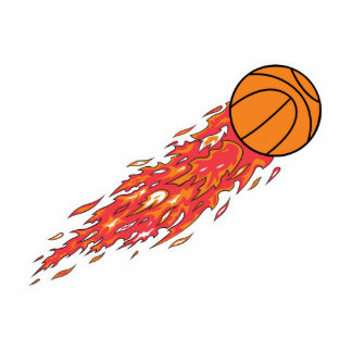 basketball on fire statuette