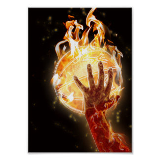 Basketball on Fire Value Poster Paper (Matte)