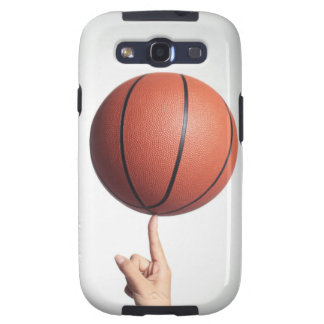 Basketball on index finger,hands close-up galaxy s3 cover