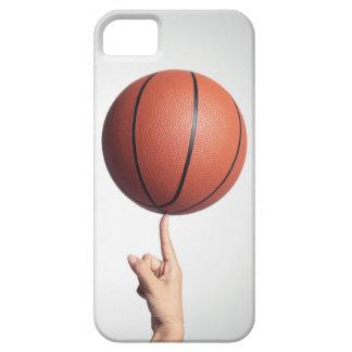 Basketball on index finger,hands close-up iPhone SE/5/5s case