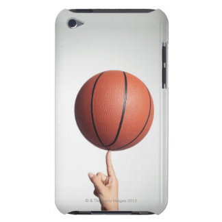 Basketball on index finger,hands close-up iPod touch cover