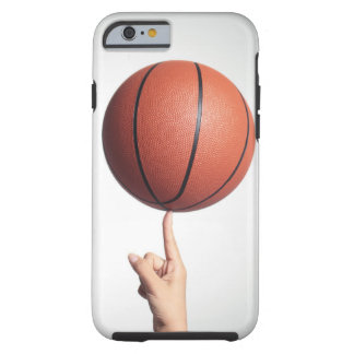 Basketball on index finger,hands close-up tough iPhone 6 case