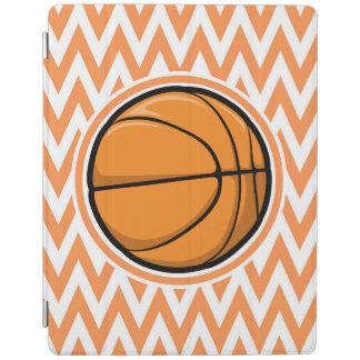 Basketball on Orange and White Chevron iPad Cover