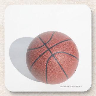 Basketball on white background beverage coaster