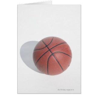 Basketball on white background card
