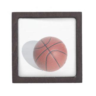 Basketball on white background jewelry box