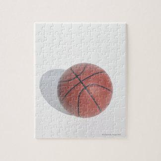 Basketball on white background jigsaw puzzle