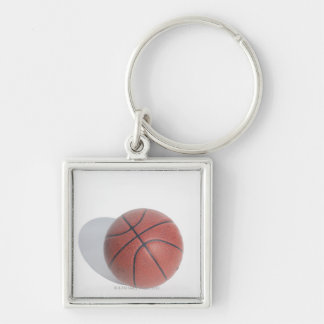Basketball on white background keychain