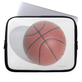 Basketball on white background laptop sleeve