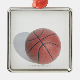 Basketball on white background metal ornament