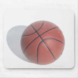 Basketball on white background mouse pad