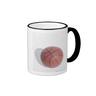 Basketball on white background mugs