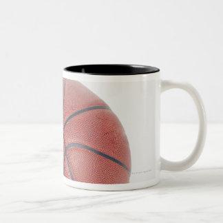 Basketball on white background mug