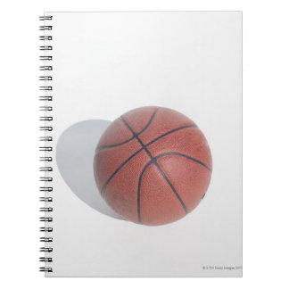 Basketball on white background notebook