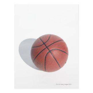 Basketball on white background postcard