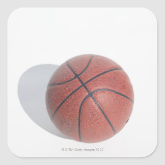 Basketball on white background sticker