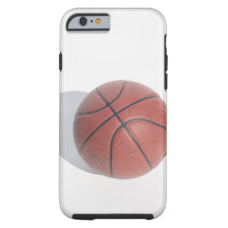 Basketball on white background tough iPhone 6 case