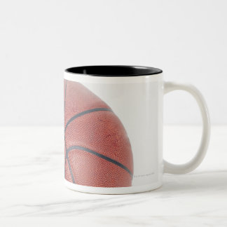 Basketball on white background Two-Tone coffee mug