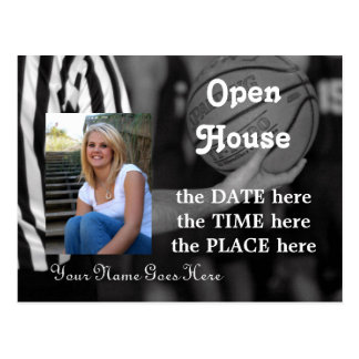basketball,open house postcard