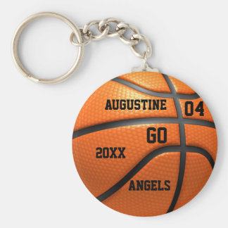 Basketball orange leather Keychain with Name